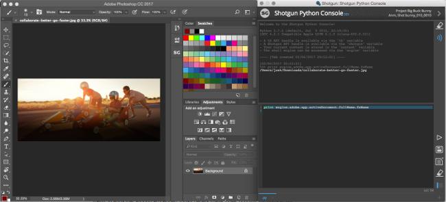 Shotgun Python コンソール