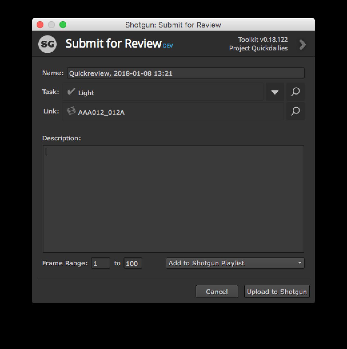 Submit UI