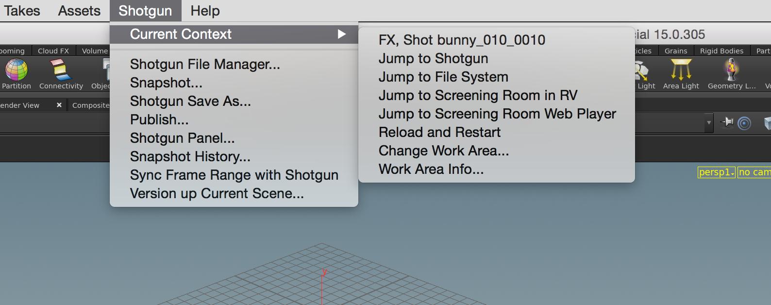 Shotgun menu