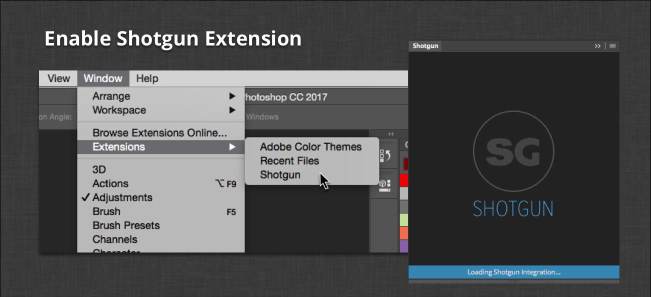 Extensions Menu
